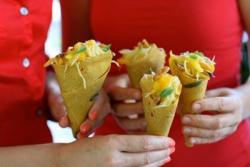 Mango Cones with a Green Papaya Salad by Golubka